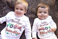 Thanksgiving Brothers Pumpkin and Tractor Personalized Sibling Shirts | FUNKY MONKEY THREADS, #FMT, #funkymonkeythreads, #1stthanksgiving, #brothers
