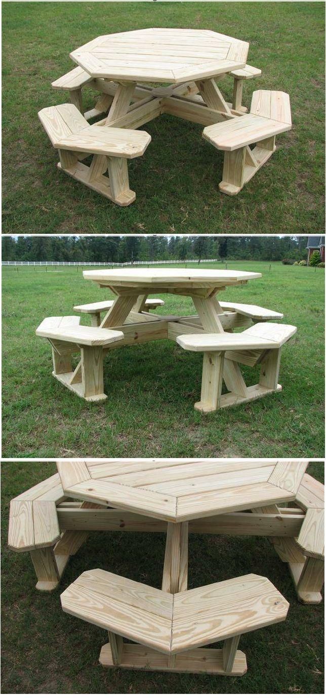 Octagonal Picnic table Idea