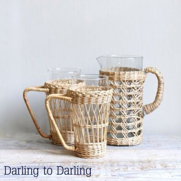glass pot in wicker. From Darling to Darling