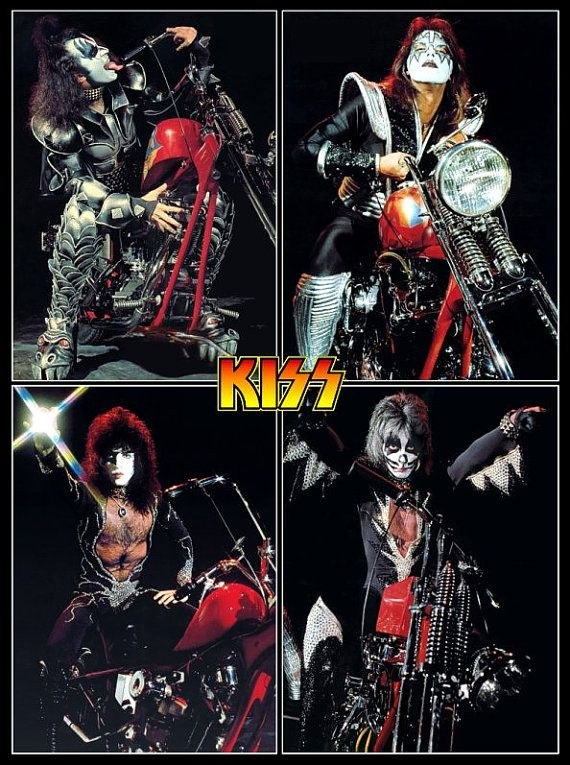 KISS Destroyer Era Motorcycle Collage II Poster Stand-Up por kiss76