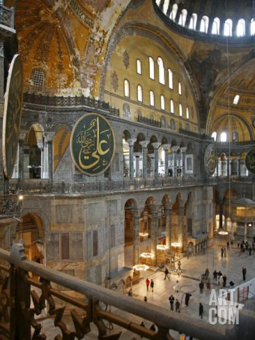 Haghia Sophia, UNESCO World Heritage Site, Istanbul, Turkey, Europe Photographic Print by Levy Yadid at Art.com