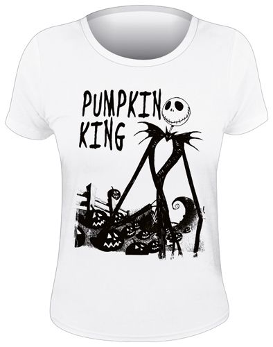Tee Shirt Femme MISTER JACK - Pumpkin King - http://rockagogo.com