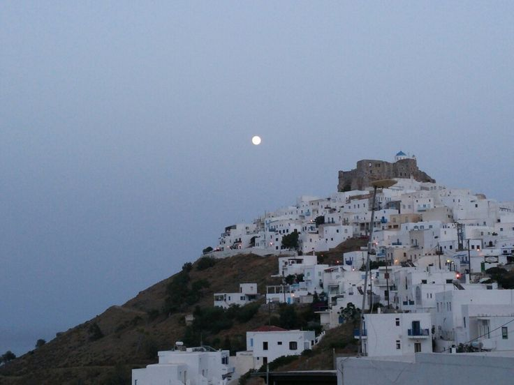 Full moon over Astypalaia