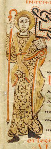 Sacramentary of Gellone - Mark the Evangelist Bibliothèque Nationale de France