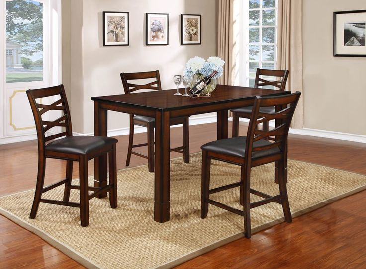 Lifestyle Mango Brown Pub Dinette Set My Furniture Place