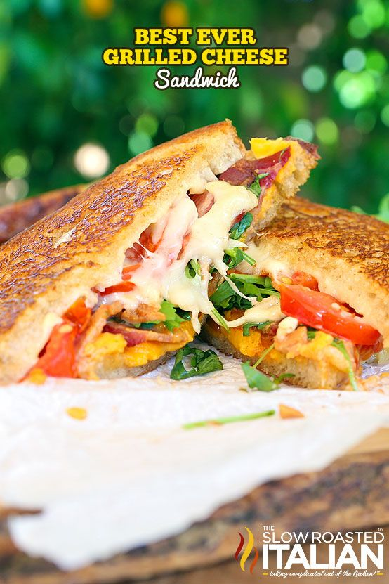 Best Ever Grilled Cheese Sandwich recipe starts with the ooey gooey trifecta of…