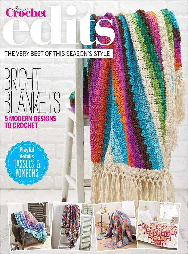 Modern Bohemian Blanket crochet pattern by Susan Kennedy of PrettyPeaceful in Issue 33 of Simply Crochet magazine