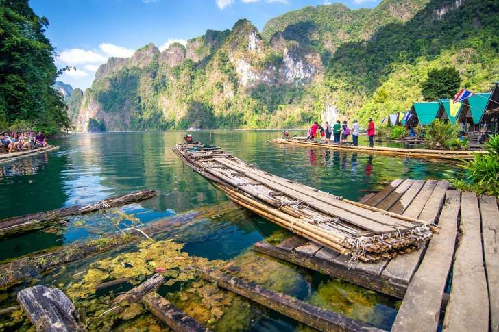 Khao Sok national park in Thailand.