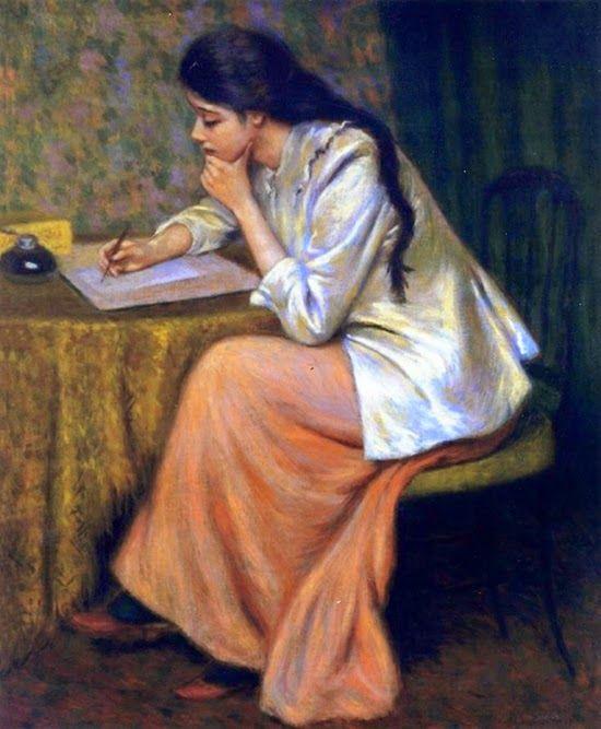 ~ Federico Zandomeneghi ~ Italian artist, 1841-1917: La lettera