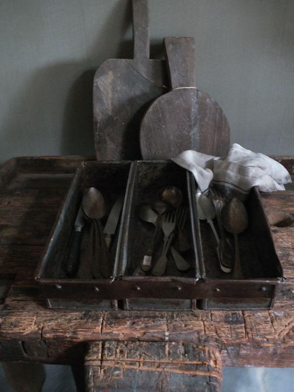 Metalen Industriële bestekbak |  Stoer | Landelijk | Industriële keuken | webwinkel | webshop  www.stylingandlivingshop.nl