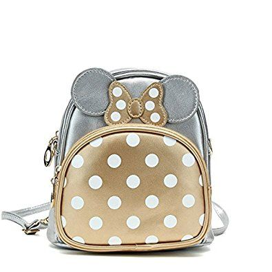 Amazon.com: Micom Bows Polka-dots Cute Pu Leather Crossbody Purse Mini Backpack for Girls (Silver): Shoes