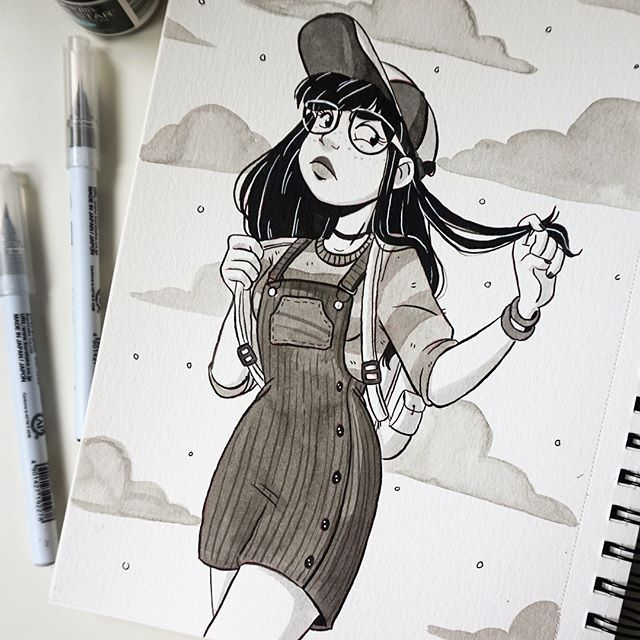 ✨✨Inktober day 20!  Hope everyone has a lovely Friday ! #inktober17 #inktober #inktober2017