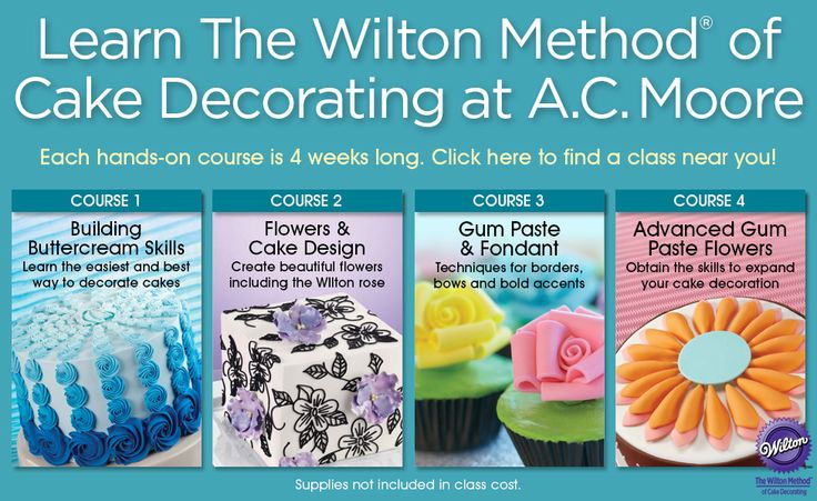 Craft and cake decorating classes at ac moore scout for Ac moore craft classes