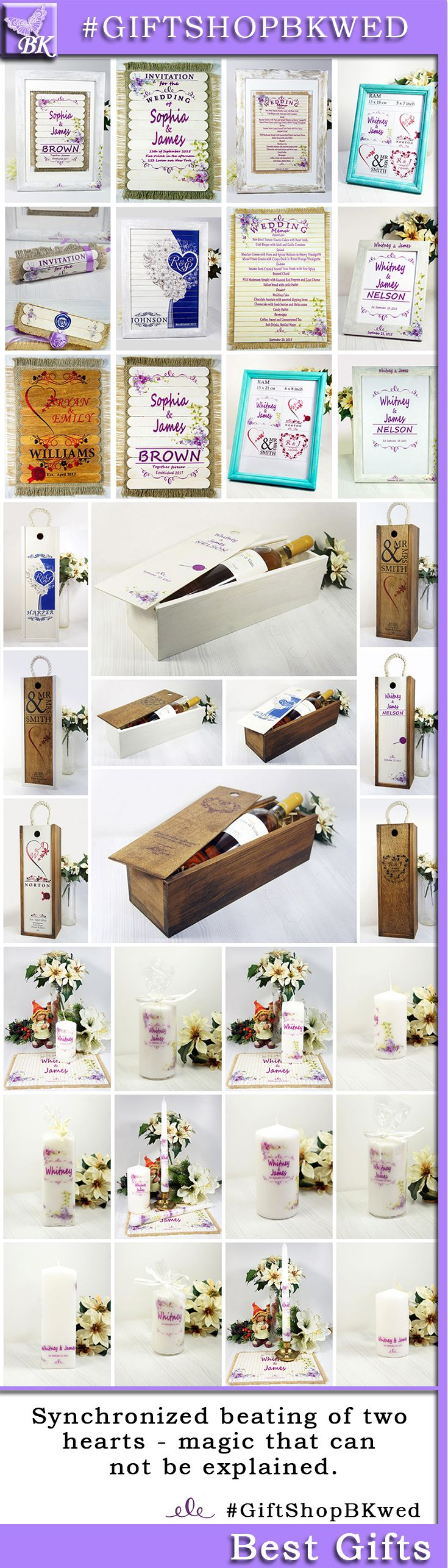 Personalized Wedding ceremony custom rustic wooden favor love Shabby Chic Bride Groom His Her mr mrs #giftshopbkwed #wedding #photo #ceremony #personalized #gift #rustic #Bride #Groom #His #Her #mr #mrs #anniversary #custom #monogram #diy #shabbychic #favor #love #tree #decor #shabby #chic #home #ideas #nature #winebox  #birthday #housewarming #wood #wooden #wine #box #candle #frame