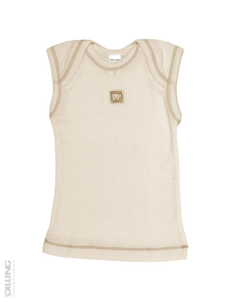 Merino uldundertrøje til baby natur | Økologisk undertøj, økomode, merino uld | DILLING underwear