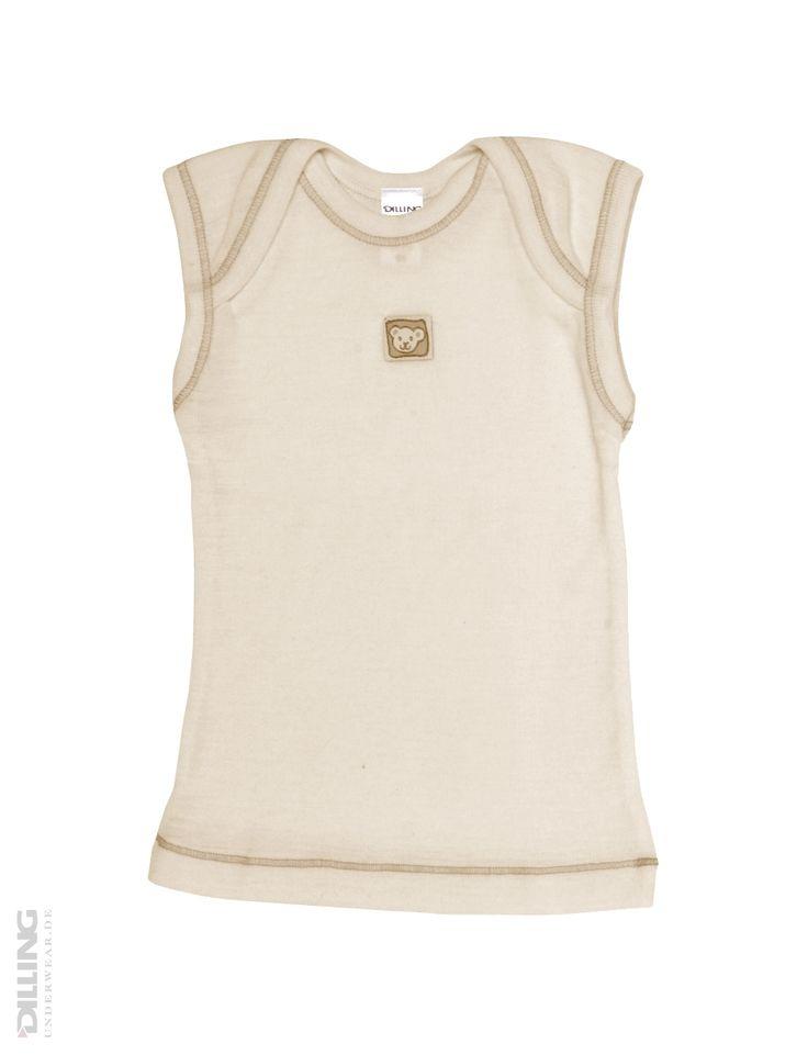 Merino uldundertrøje til baby natur   Økologisk undertøj, økomode, merino uld   DILLING underwear