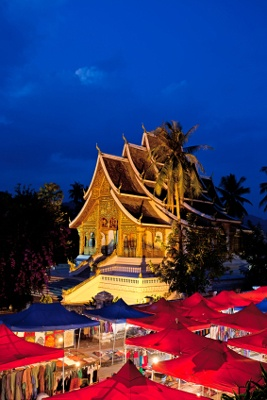 A gorgeous building overlooking the Luang Prabang night market in Laos.    THE LIBYAN Esther Kofod www.estherkofod.com