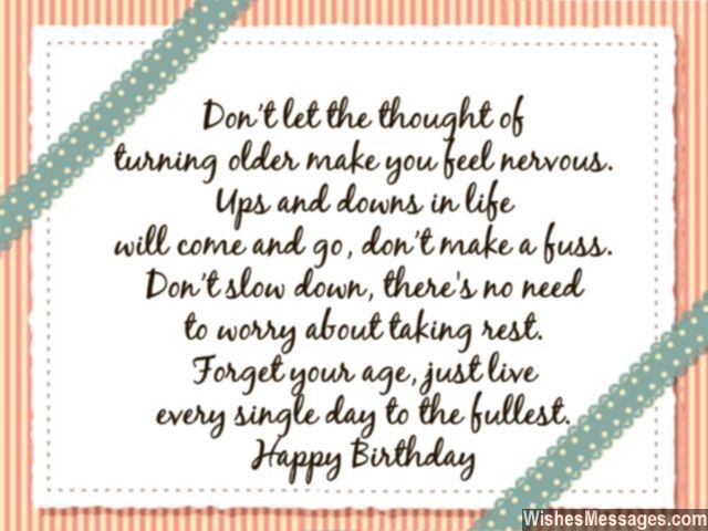 The perfect birthday wish for people who fret about getting older – 50th Birthday Card for Husband