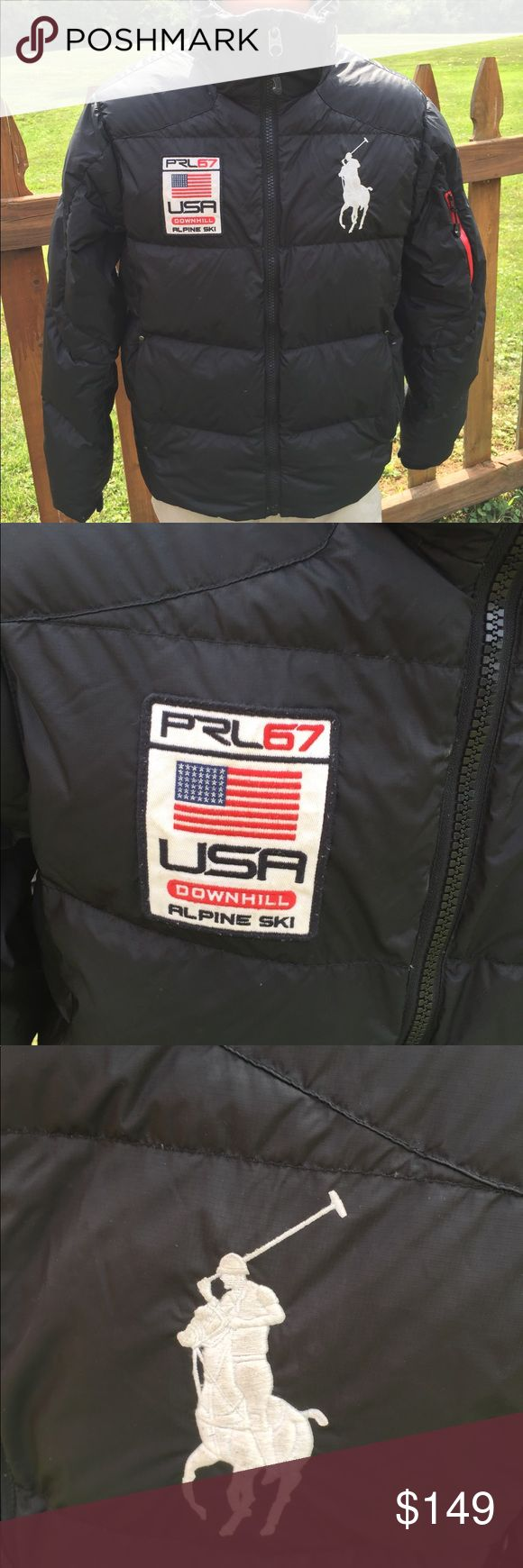 Polo by Ralph Lauren Mens Alpine Ski Puffer Jacket Size medium. Detachable hood lining has some tears in the lining. We had removed it but will include hood in case new owner wants it. Super hard to find. Be sure to view the other items in our closet. We offer  women's, Mens and kids items in a variety of sizes. Bundle and save!! We love reasonable offers!! Thank you for viewing our item!! Polo by Ralph Lauren Jackets & Coats Ski & Snowboard