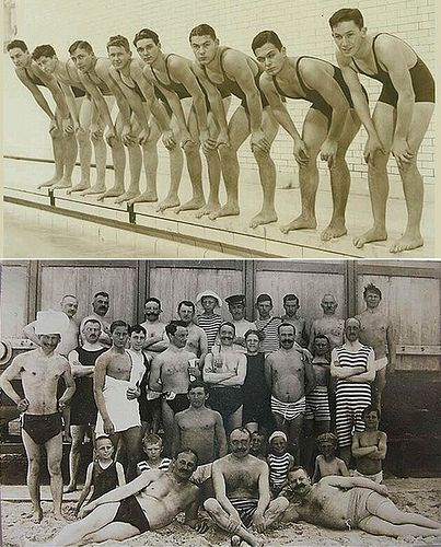 old timey men's bathing suits