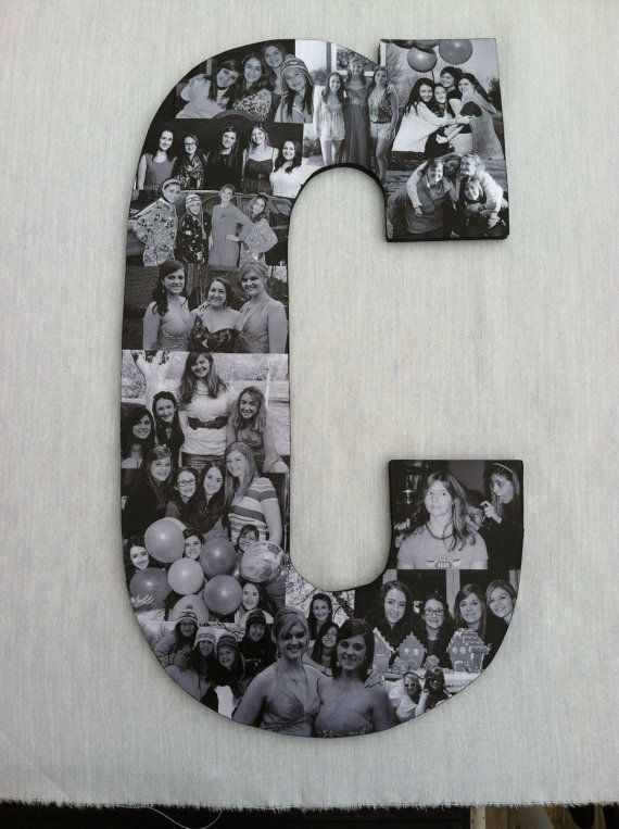 Custom  Photo Collage letter  - Girlfriend gift - College dorm room decor on Etsy, $49.95