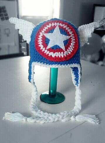 2-5 Years Captain America Crochet Hat / Superhero Hat by Zbirds