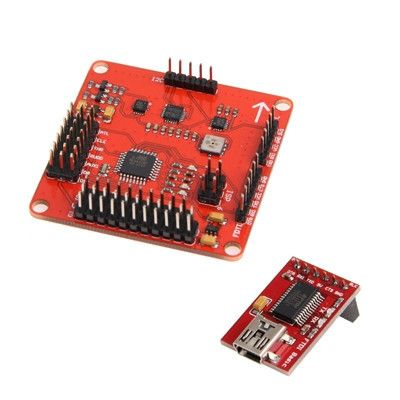 MWC MultiWii Standard Flight Control Board + FTDI Multicopter QuadCopter Red(Red)