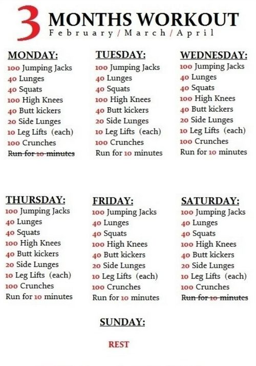 A three month #workout you can start tomorrow!  #fitness #exercise #workout #printable