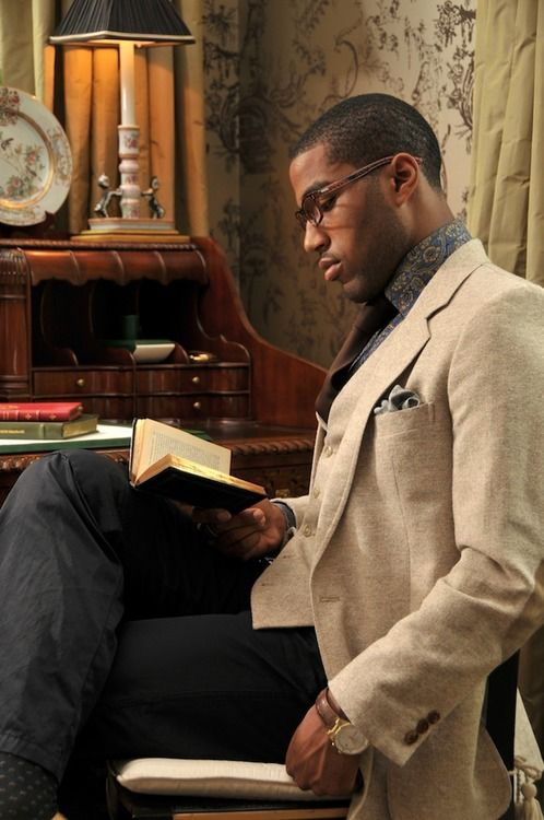 I don't know who he is, but I can't ignore a black man with a book.