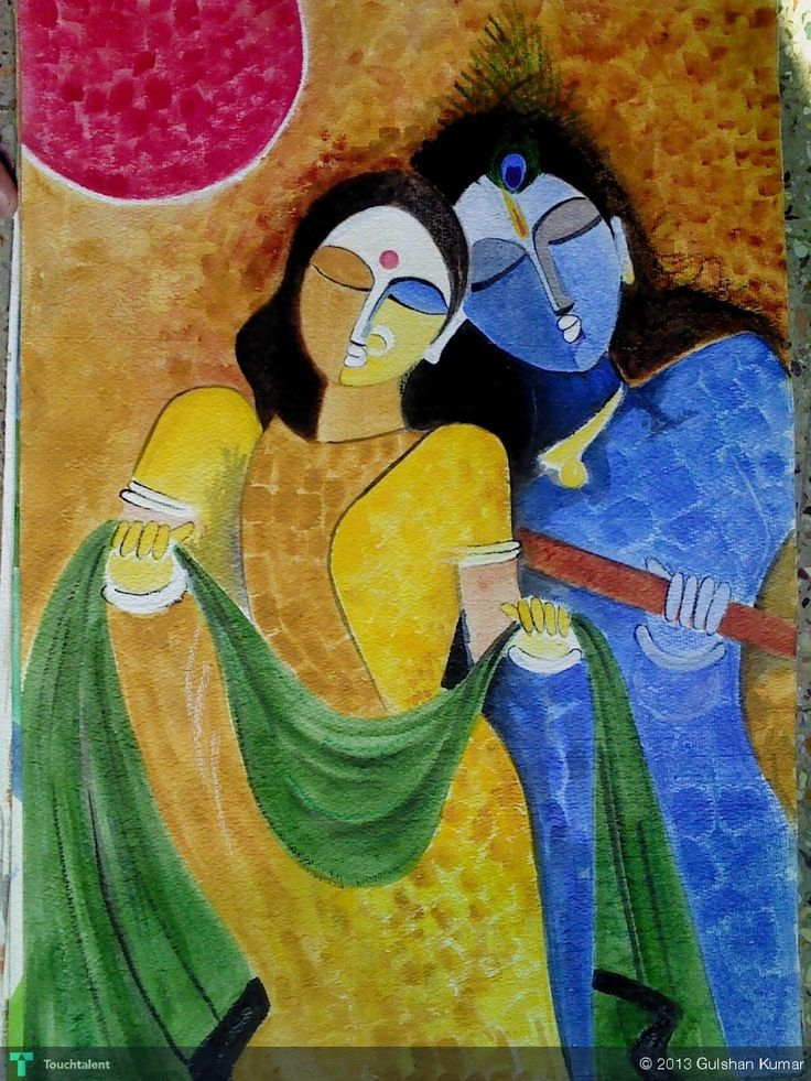 17 best images about radha krishna paintings on pinterest for Mural radha krishna