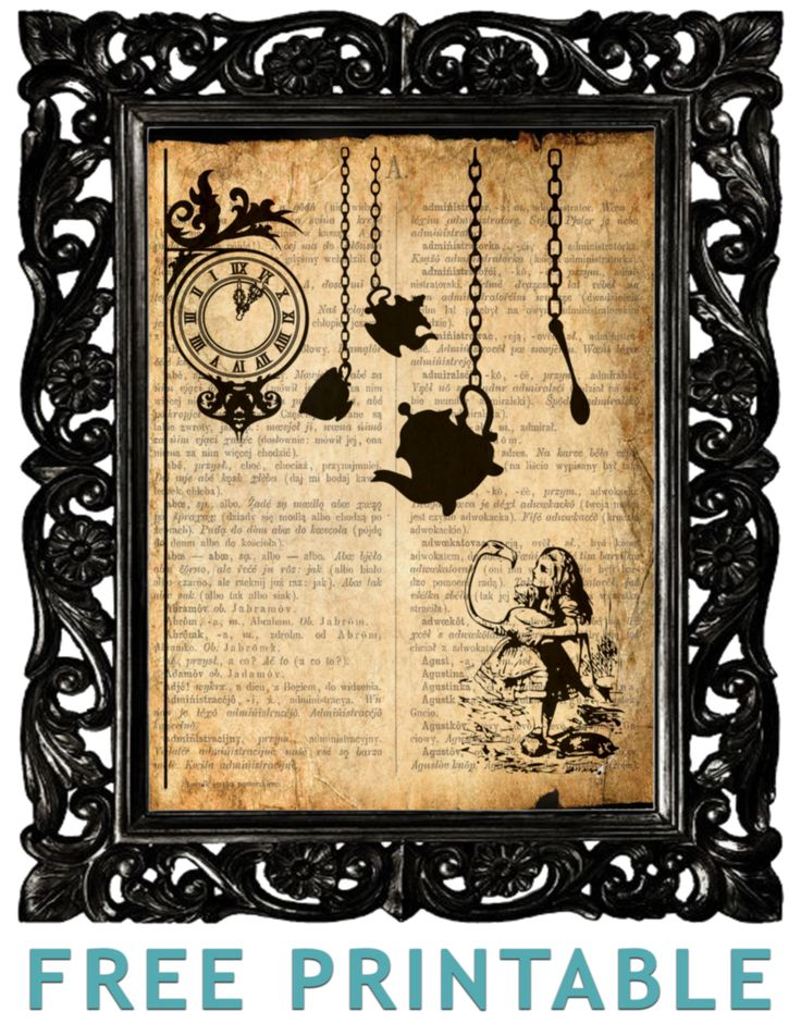 Alice In Wonderland printable...soooooo cute! Best part? FREE