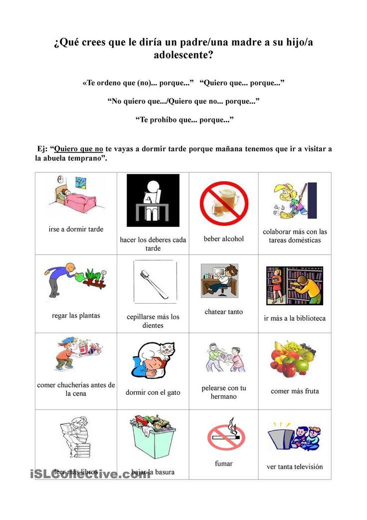 Presente de subjuntivo- Prohibiciones, órdenes