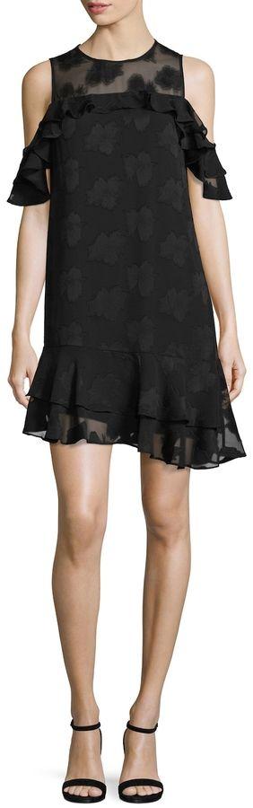 Donna Ricco Women's Cold Shoulder Cocktail Dress