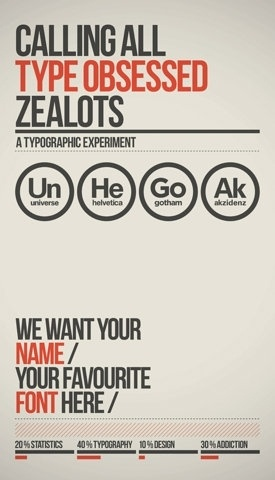 Calling All Type Obsessed Zealots.