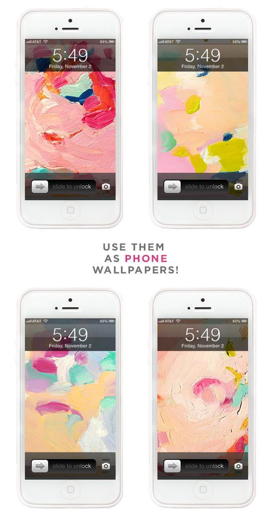 iphone wallpapers watercolors dress your tech | designlovefest