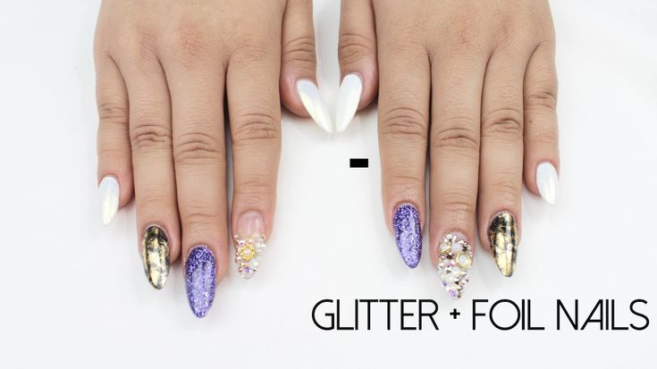 HOW TO: Glitter + Foil Nails