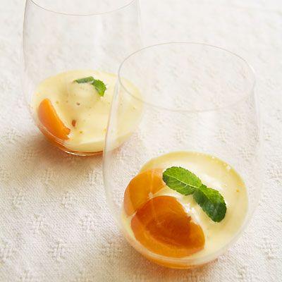 Prosecco-Poached Apricot Zabaglione | Sippity Sup