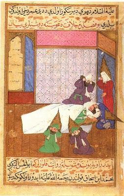 Muerte de Mahoma en el Siyer-i Nebi.