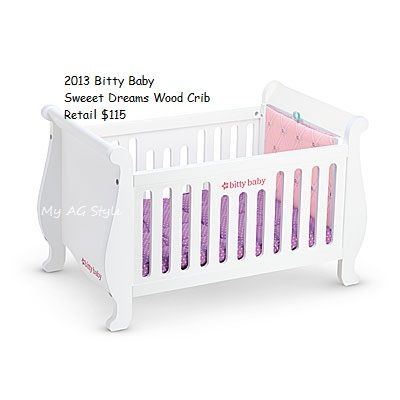 American Girl Doll Bitty Baby Crib Bitty Baby Furniture Accessories By American Girl Doll