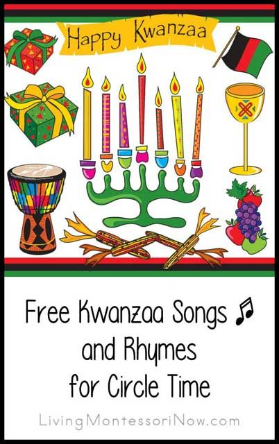 Roundup of free YouTube Kwanzaa songs along with links to Kwanzaa songs and rhymes with lyrics ... songs for preschoolers and older (for home or classroom)