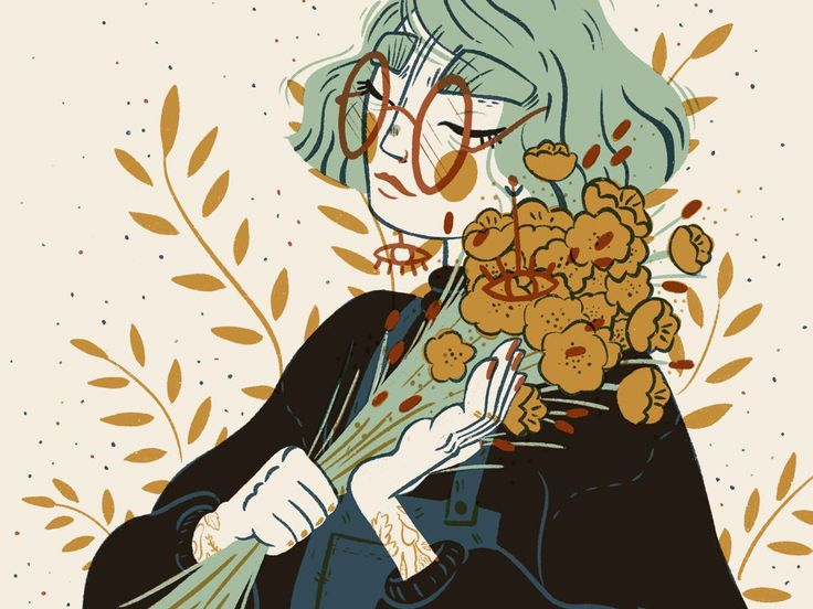 Mustard Florals Illustration