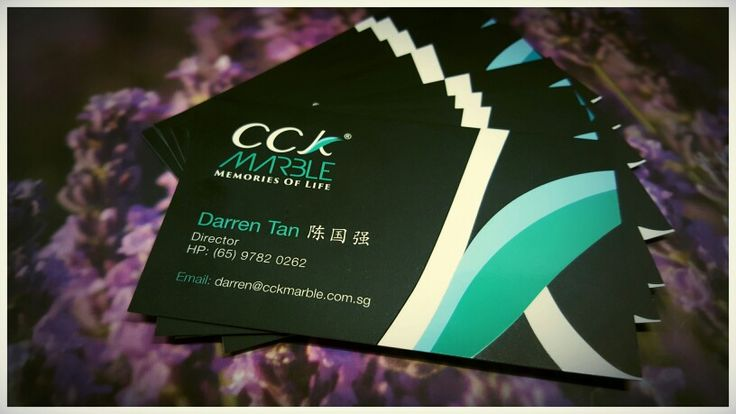 New business card with new logo CCK Marble