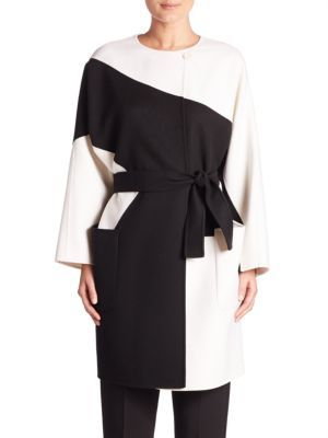 MAX MARA Colorblock Wool-Blend Coat. #maxmara #cloth #coat