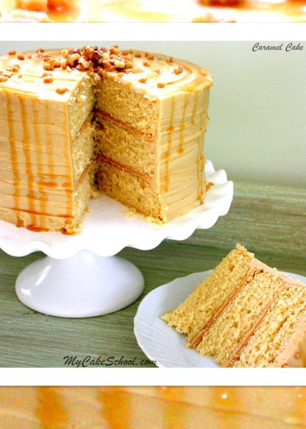 Delicious Caramel Cake Recipe by MyCakeSchool.com!