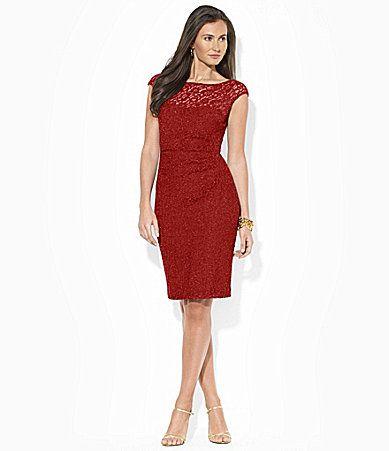 Red dress dillards ralph