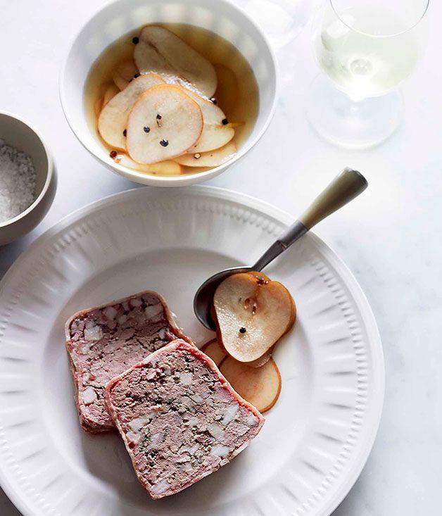 Pork and chicken liver terrine recipe | Gourmet Traveller recipe - Gourmet Traveller