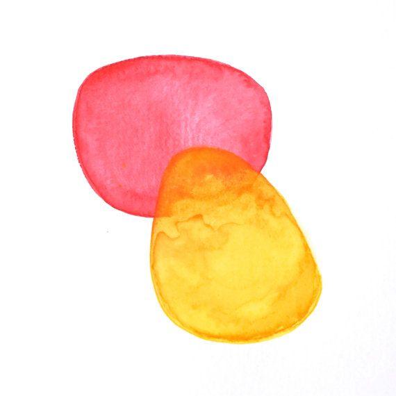 original modern minimalist watercolor painting  by AETHERart, $20.00
