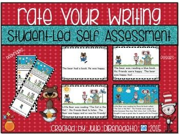 I am so excited to share this new Student-Led Self Assessment Tool with you!  This download includes anchor charts/posters, bookmarks to use as a reference ladder on students' desks, and placemat posters to use during guided writing time at your meeting table.Just print, laminate, and your students will be excited to Rate their own Writing on a daily basis.Happy Teaching!Julie DiBenedetto