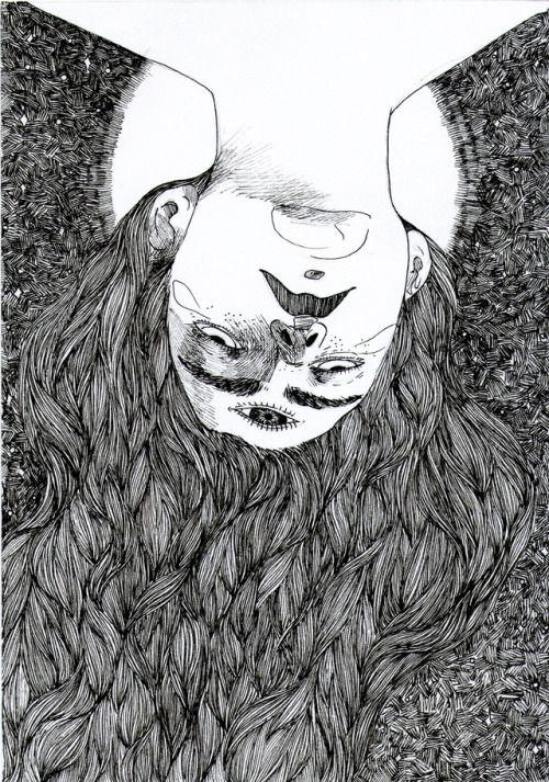 La Luna. Éxtasis, iluminación, eterno…  Con ella termina la serie de ilustraciones que tanto disfrute en su momento de proceso. Me ayudó a encontrar un estilo propio y muy descriptivo, una propia manera de hacer Catarsis, empujando a mis sentimientos...
