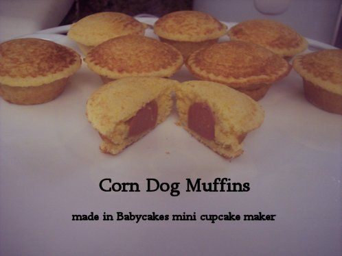 Corn Dog Muffins made in BabyCakes mini cupcake maker